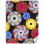 Colorful Retro Circular Pattern Canvas 36  x 48   48 x36 Canvas - 1