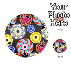 Colorful Retro Circular Pattern Playing Cards 54 (Round)