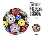 Colorful Retro Circular Pattern Playing Cards 54 (Round)  Front - SpadeQ