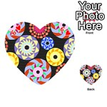 Colorful Retro Circular Pattern Playing Cards 54 (Heart)  Front - Heart6