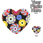 Colorful Retro Circular Pattern Playing Cards 54 (Heart)  Front - Heart10