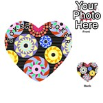 Colorful Retro Circular Pattern Playing Cards 54 (Heart)  Front - Joker1