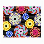 Colorful Retro Circular Pattern Small Glasses Cloth (2-Side) Front