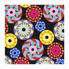 Colorful Retro Circular Pattern Medium Glasses Cloth
