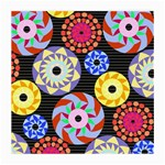 Colorful Retro Circular Pattern Medium Glasses Cloth (2-Side) Back