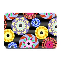 Colorful Retro Circular Pattern Plate Mats