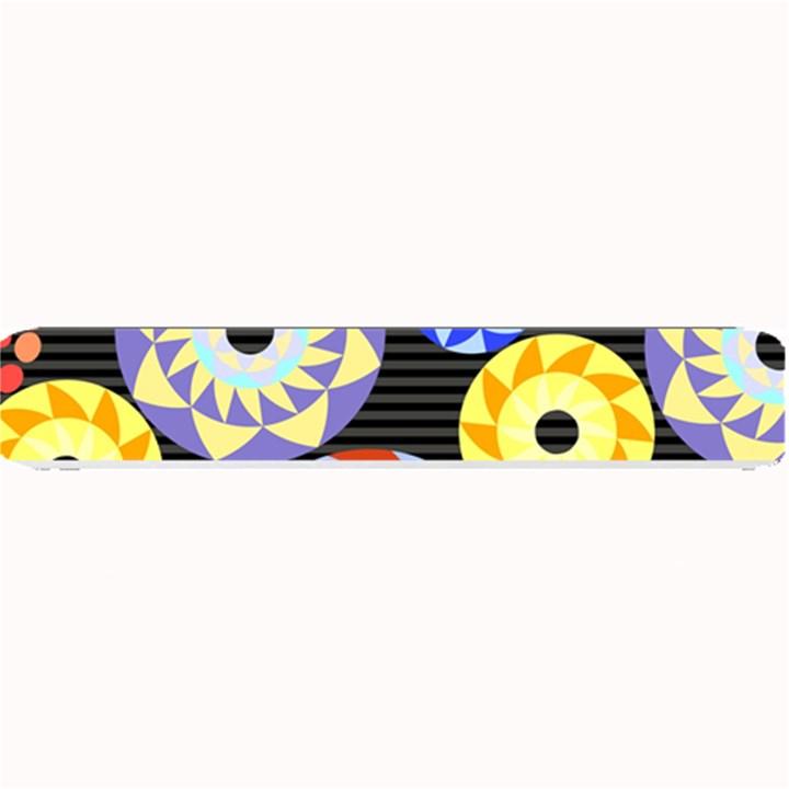 Colorful Retro Circular Pattern Small Bar Mats