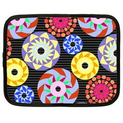 Colorful Retro Circular Pattern Netbook Case (Large)