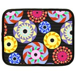 Colorful Retro Circular Pattern Netbook Case (Large) Front