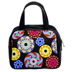 Colorful Retro Circular Pattern Classic Handbags (2 Sides) Front