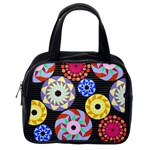 Colorful Retro Circular Pattern Classic Handbags (2 Sides) Back