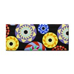Colorful Retro Circular Pattern Hand Towel Front