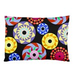 Colorful Retro Circular Pattern Pillow Case 26.62 x18.9 Pillow Case