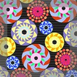 Colorful Retro Circular Pattern Mini Canvas 8  x 8  8  x 8  x 0.875  Stretched Canvas
