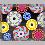 Colorful Retro Circular Pattern Canvas 14  x 11  14  x 11  x 0.875  Stretched Canvas