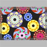 Colorful Retro Circular Pattern Canvas 18  x 12  18  x 12  x 0.875  Stretched Canvas