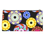 Colorful Retro Circular Pattern Pencil Cases Back