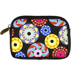 Colorful Retro Circular Pattern Digital Camera Cases