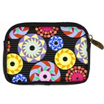 Colorful Retro Circular Pattern Digital Camera Cases Back