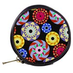 Colorful Retro Circular Pattern Mini Makeup Bags Back