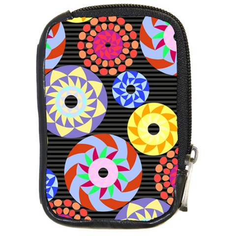 Colorful Retro Circular Pattern Compact Camera Cases