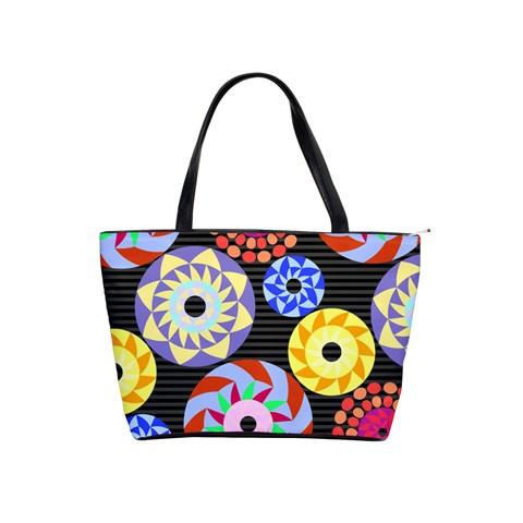 Colorful Retro Circular Pattern Shoulder Handbags