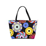 Colorful Retro Circular Pattern Shoulder Handbags Front