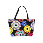 Colorful Retro Circular Pattern Shoulder Handbags Back