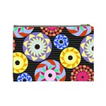 Colorful Retro Circular Pattern Cosmetic Bag (Large)  Back