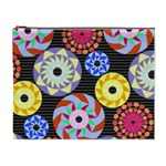 Colorful Retro Circular Pattern Cosmetic Bag (XL) Front