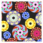 Colorful Retro Circular Pattern Small Memo Pads 3.75 x3.75  Memopad