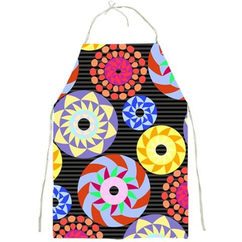 Colorful Retro Circular Pattern Full Print Aprons