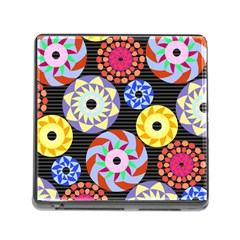 Colorful Retro Circular Pattern Memory Card Reader (Square)