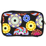 Colorful Retro Circular Pattern Toiletries Bags Front