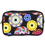 Colorful Retro Circular Pattern Toiletries Bags 2-Side Back