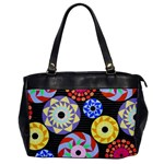 Colorful Retro Circular Pattern Office Handbags Front