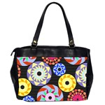Colorful Retro Circular Pattern Office Handbags (2 Sides)  Back