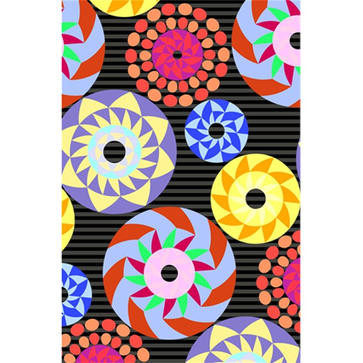 Colorful Retro Circular Pattern 5.5  x 8.5  Notebooks
