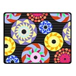 Colorful Retro Circular Pattern Fleece Blanket (Small) 50 x40 Blanket Front
