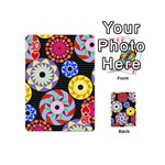 Colorful Retro Circular Pattern Playing Cards 54 (Mini)  Front - Heart10