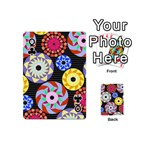 Colorful Retro Circular Pattern Playing Cards 54 (Mini)  Front - ClubQ