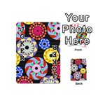 Colorful Retro Circular Pattern Playing Cards 54 (Mini)  Front - Joker1