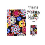 Colorful Retro Circular Pattern Playing Cards 54 (Mini)  Front - Joker2