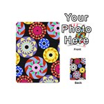 Colorful Retro Circular Pattern Playing Cards 54 (Mini)  Back