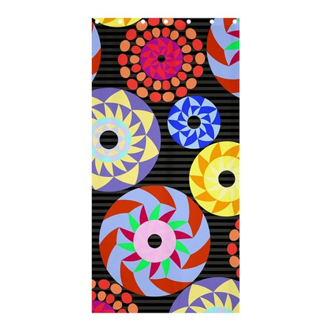 Colorful Retro Circular Pattern Shower Curtain 36  x 72  (Stall)