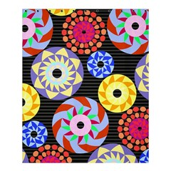 Colorful Retro Circular Pattern Shower Curtain 60  x 72  (Medium)