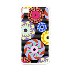 Colorful Retro Circular Pattern Apple Iphone 4 Case (white)