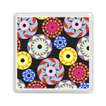 Colorful Retro Circular Pattern Memory Card Reader (Square)  Front