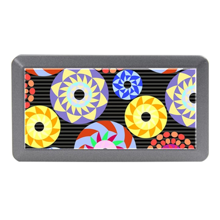 Colorful Retro Circular Pattern Memory Card Reader (Mini)
