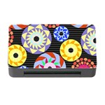 Colorful Retro Circular Pattern Memory Card Reader with CF Front